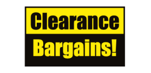 Clearance Bargains!